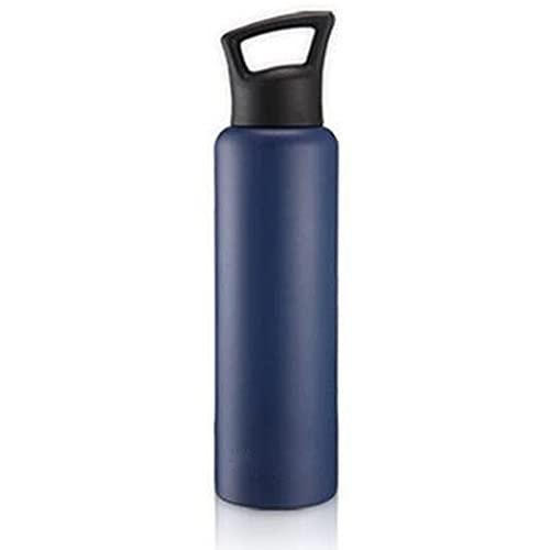 YQX-Borraccia Termica, Bottiglia Senza Perdite, per Bambini, Scuola, Sport, Campeggio, Yoga, Palestra, Ciclismo, Viaggiare,Dark Blue,750ml