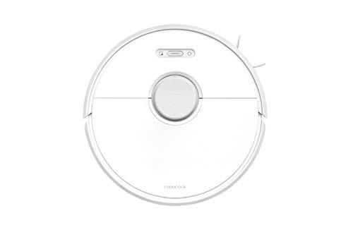Roborock S6 Pure White - Aspiradora de Alta Potencia de Aspiración Alfombras y superfícies, Tanque de agua 180 ml, Superficie 300 m2, Programable vía App, Wi-Fi conectado y Control Alexa Google Home