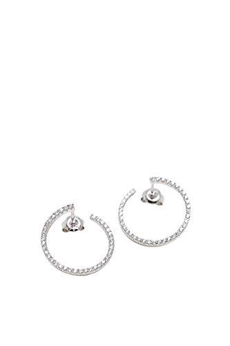 Esprit Ohrringe ESER00531100 Damen Ohrstecker Beam Silber Weiß Zirkonia