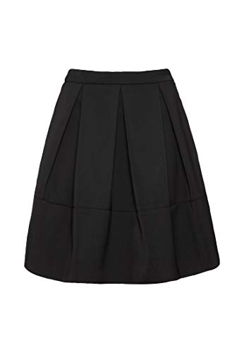 HALLHUBER Taillenrock aus Satin ausgestellter Schnitt schwarz, 34
