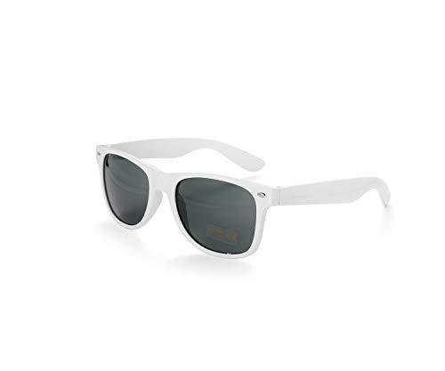 Blanco Drifter Style Gafas De Sol UV400 Proteccion Unisexo