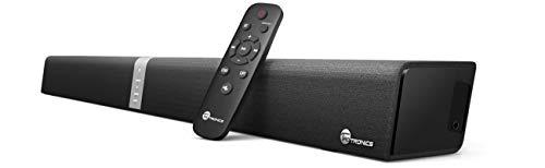 TaoTronics Bluetooth Soundbar, 2.0 Kanal, 2 kabellose Subwoofer, 40W Lautsprecher, Doppelte Verbindungsmöglichkeiten, mit Fernbedienung und Taststeuerung für TVs, Montierbar an Wänden