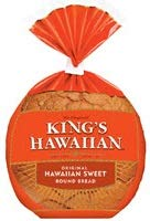 Kings Hawaiian Original Sweet Round Bread, 16 Ounce -- 6 per case.
