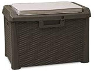Toomax Art. 170 Compact Box Santorini Malle de Rangement Résine Marron 73 x 50,5 x 49,5 cm