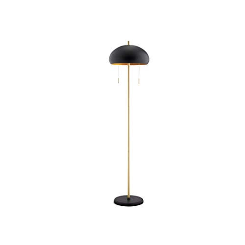 Lámparas de Pie Esmerilado Negro Lámpara de estilo minimalista nórdico plug-in de la cremallera del doble interruptor de arco metálico de bronce de habitaciones vertical de la lámpara marco for la vid