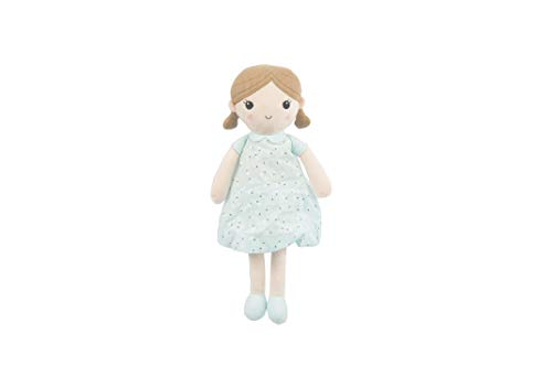 Linzy Toys, Soft Plush Mint Blue Emily Rag Doll, 15""