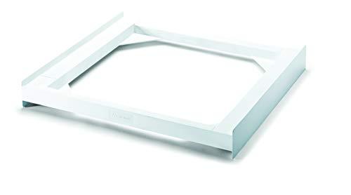 Meliconi Base Torre Basic L60 Kit di Sovrapposizione in tecnopolimero per lavatrice e asciugatrice, Poliuretano, Bianco