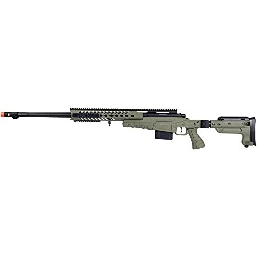 Lancer Tactical WellFire MB4418-3 Bolt Action Airsoft Sniper Rifle OD Green 380 FPS