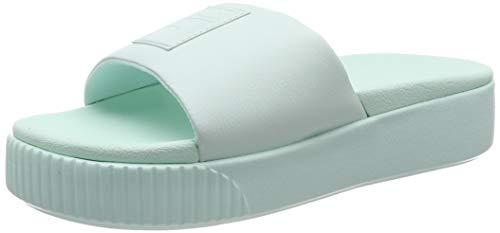 PUMA Platform Slide Wns, Zapatos de Playa y Piscina Mujer, Azul (Fair Aqua-Fair Aqua), 38 EU