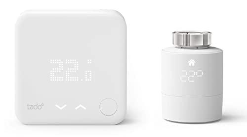 tado° Sensor de Temperatura Inalámbrico, Accesorio para los Cabezales Termostáticos Inteligentes, Instálalo Tú Mismo + Cabezal Termostático Inteligente, Accessorio para Control de Habitaciones