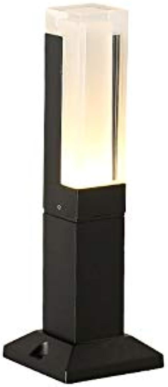 Pinjeer Regensicheres geführtes schwarzes Acrylsulenlicht im Freien europische moderne einfache Druckgussaluminiumpfosten-Licht-Landschaftsgarten-Gang-Straenwiesen-dekorative Sulenlampe
