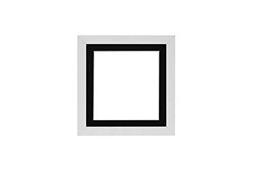 3-D Instagram Quadrat Bilderrahmen/Foto -/Posterrahmen mit maßgeschneidertem Ständer - weißer Rahmen mit Schwarz Montierung - 5 x 5 Zoll für 4 x 4 Zoll Bilder