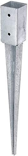 Gartenwelt Riegelsberger Casquillo de impacto con 4 tornillos para postes, 91 x 91 mm, longitud total 750 mm