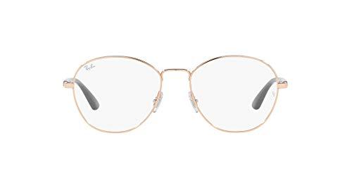 Ray-Ban 0RX6470 Gafas, ROSE GOLD, 52 Unisex Adulto