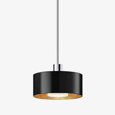 Bruck Cantara Metall Pendelleuchte LED - ø19 cm, chrom matt, weiß/gold