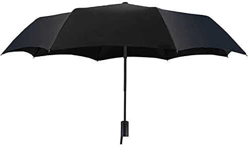 Pkfinrd Automatisches Öffnen und Schließen, Business-Klappschirm, sonnig, regnerisch, doppelzweckig, Aluminium, winddicht, wasserdicht, UV-Sonnenschutz, Glasfaser-Knochenmaterial