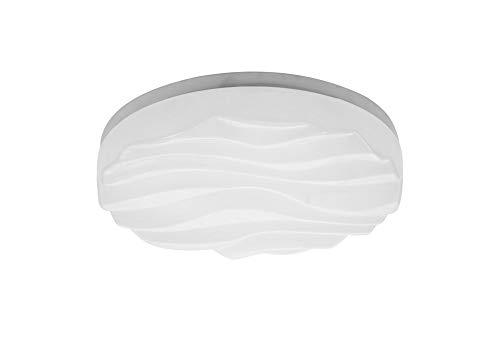 Arena - Lámpara de techo y pared (24 W, LED, IP44, acrílico), color blanco mate