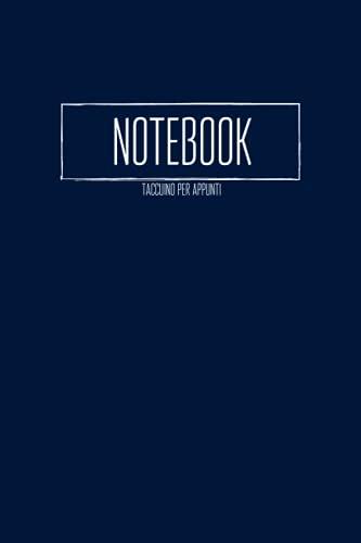 Notebook Taccuino per appunti: Tascabile - A5 15,24 x 22,86 cm - Cover Blu - Per studenti, professionisti, insegnanti - A righe puntinate