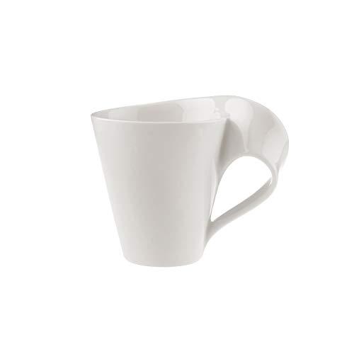 Villeroy & Boch - NewWave Caffè Tasse mit Henkel, 300 ml, eleganter Kaffeegenuss, Premium Porzellan, spülmaschinen-, mikrowellengeeignet, Weiß