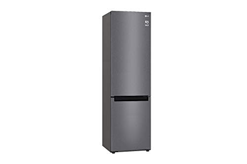 LG GBP62DSSFR Frigorifero Combinato Total No Frost con Congelatore, 384 L, 36 dB - Frigo con Freezer, Tecnologia FRESH Converter, Display LED Interno, Inox