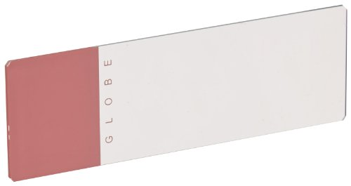 Globe Scientific 1324P Glass Microscope Slide, 25 x 75mm Size, Ground Edges with Safety Corners, Pink Frosted (1,440 slides)
