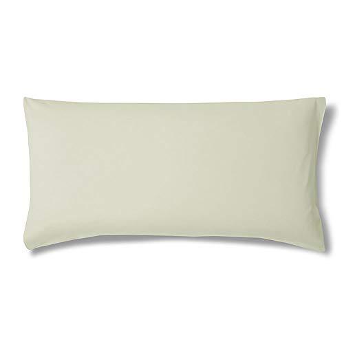 ESTELLA Kissenbezug Feinjersey | Verde | 40x80 cm | ideale Passform und praktischer Reißverschluss | trocknerfeste und bügelfreie Kissenhülle aus 100% Baumwolle