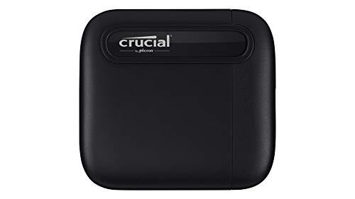 Crucial CT1000X6SSD9 X6 1 TB SSD portátil – de hasta 540 MB/s – USB 3.2 – Unidad de estado sólido externa, USB-C