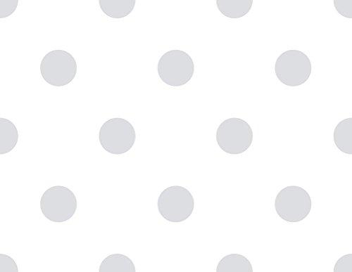 Rasch Textil Papiertapete Tapete - Kollektion Bimbaloo 2- 330198 Punkte Weiß Grau
