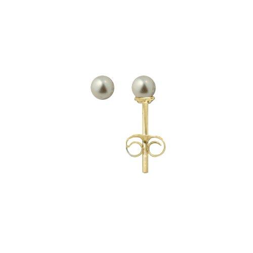 Pendientes en oro de imitación perla 1200629 BL