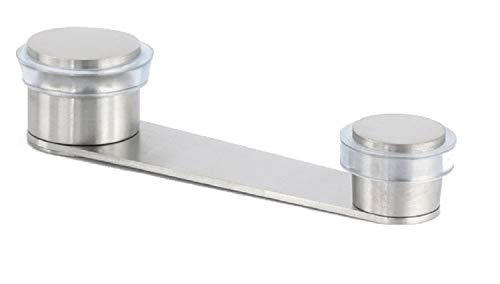 EVI Herrajes I-164-T – Tope para puerta con retenedor giratorio, fijación con tornillo, acero inoxidable