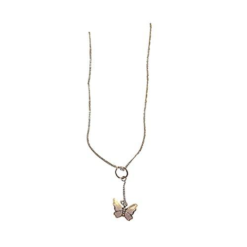 Collar de mariposa Cadena de cuello Cadena de clavícula