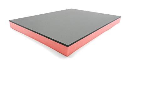 30 mm dick - Werkzeugeinlage Hartschaumstoff Systemeinlage Shadow Board Schaumeinlage für Werkzeugwagen, schwarz-rot (300 x 400 x 30 mm)
