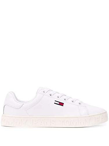Luxury Fashion | Tommy Hilfiger Dames EN0EN00877100 Wit Leer Sneakers | Lente-zomer 20
