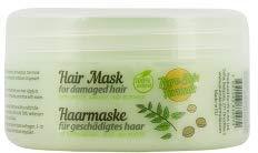 100% natürliche Haarmaske für trockenes, strapaziertes Haar mit Brennnessel, Klette, Walnuss, Jojoba und Avocadoöl. Restorative Haarbehandlung und Reparatur. Sulfat,...