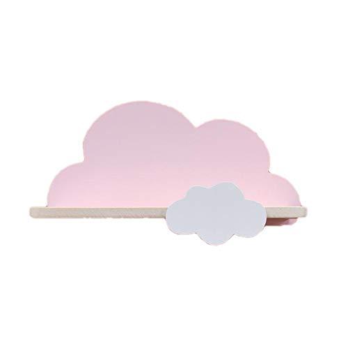 Junqin Estantería de Nube jardín Infantes o Dormitorio, estantería de jardín de Infantes para niños Hecha a Mano, Tema de Dormitorio Infantil, estantería de Nube Flotante para niños y niñas-Pink