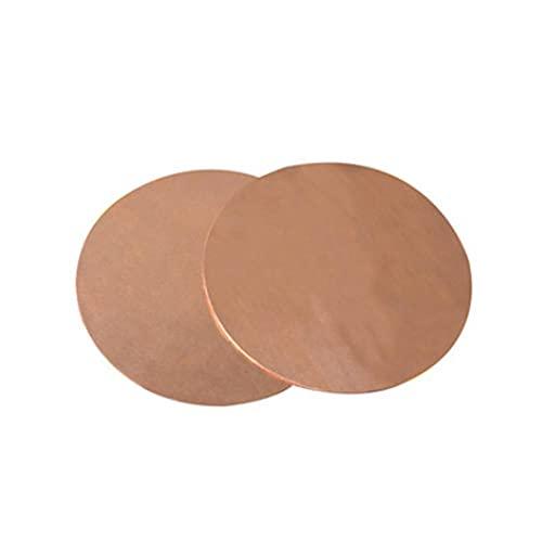 Placa redonda de cobre, procesamiento de cobre puro, placa de cobre, material de cobre-0,8 * 150 mm * 1 pieza