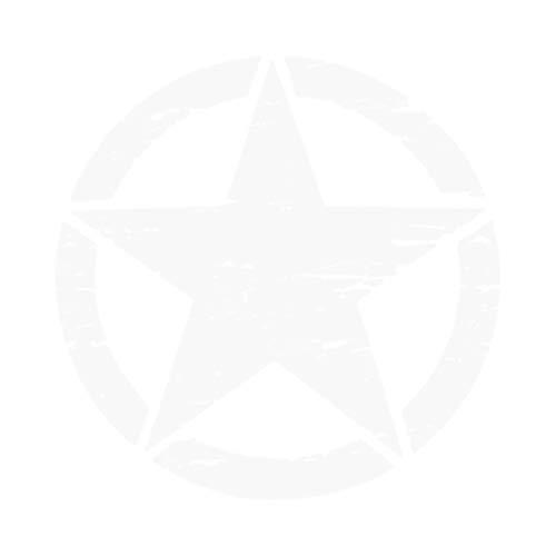 bobeini 50cm Pegatinas Grandes en Coches Army Star Pegatinas desgastadas para Jeep...