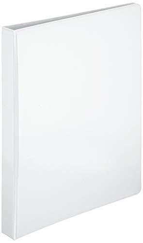 Esselte 49708 Ringbuch Präsentation, mit Taschen, A4, PP, 2 Ringe, 25 mm, weiss