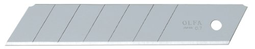 OLFA 5008 HB-5B 25mm Snap-Off EHD Silver Blade, 5-Pack