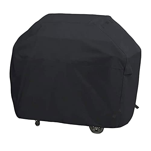 GriHero Heavy Duty Waterproof BBQ Cover, Anti-UV Oxford Fabric Barbecue Covers, Outdoor Protection Covering Compatible with Most Gas Grills, like Weber Spirit, Char-Broil, Outback (50inch, Black)