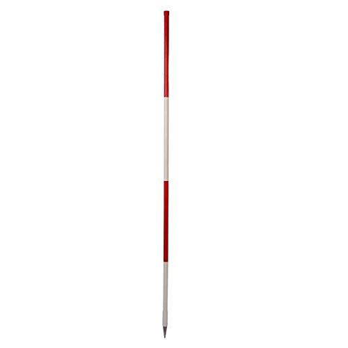 Holz-Fluchtstab - Bau-Qualität, 2m, runde Stahlspitze, PVC Mantel