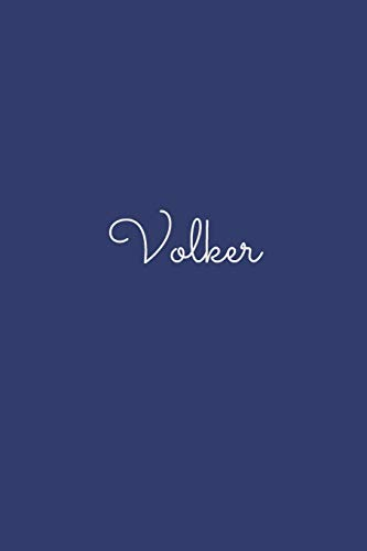 Volker: notebook with the name on the cover, elegant, discreet, official notebook for notes, dot grid notebook,