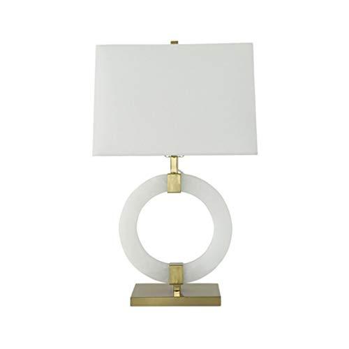 Lámpara de Mesa WFL-lámpara de Escritorio Nuevo Chino Estilo Creativo Moderno de la luz mármol de Lujo de Tela lámpara de cabecera Villa Dormitorios Living Estudio Decorativo de la Sal