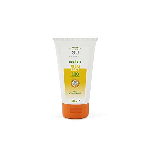 Écran solaire à base organique SPF 30 150 ml - Peau sensible - Ingrédients naturels et antioxydants - Extrait de thé vert, vitamine E, A et Aloe Vera - Protection UVA/UVB - GU Planet