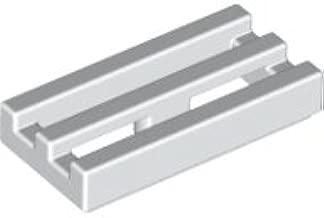 10 Stück Lego Basic Gitter Fliese 1x2 in Silber Grau