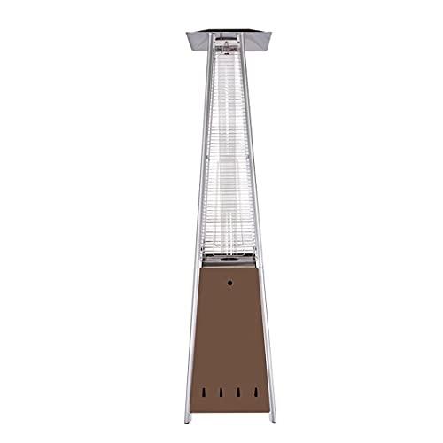 Calentador de patio a gas de 5-13KW,calentador eléctrico de invierno independiente de 88 pulgadas de alto,calentador de torre de propano para patio para jardín al aire libre,calentador de calefacción