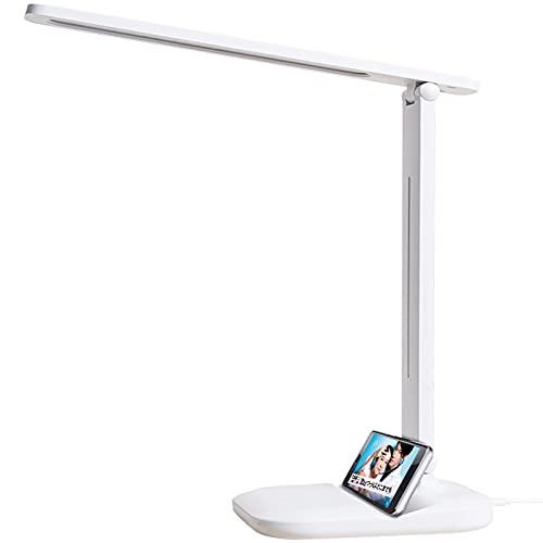 デスクライト LED 電気スタンド 折り畳み 3段階調色 無段階調光 省エネ タッチセンサー付き 充電式 卓上ライト 勉強 読書 子供用 スタンドライト デスク USBポート【 日本語説明書付き 】