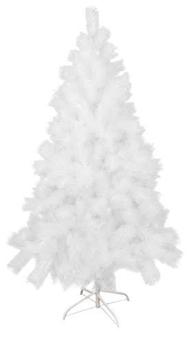 Hanselhome Árbol de Navidad Artificial Alta Densidad con Base Metálica Decoración Navideña 120 cm - 210 cm (Aguja de Pino Blanco con Fibra Brillante, 210 cm/340 Puntas)