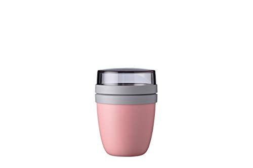 Mepal Lunchpot Ellipse Mini, PP/PCTG, Nordic pink, 300 + 120 ml