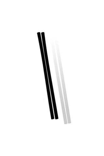 Demon P-TEX - Varillas de cera (para reparación de tablas de snowboard o esquís, 10 unidades), color negro